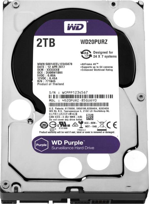 WD Purple WD20PURZ 2TB HDD
