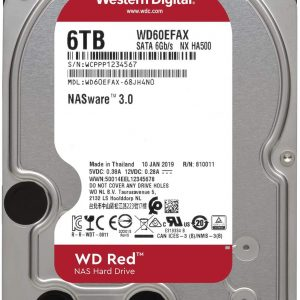 HDD WD Red WD60EFAX 6TB/8,9/600 Sata III 256MB Available 5-6 Working Days